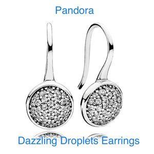 New Pandora Dazzling Droplets Earrings
